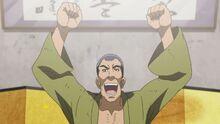 Chojiro sonriendo