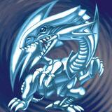 Foto dragón blanco de ojos azules