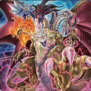 Foto dragón de enlace de cinco cabezas