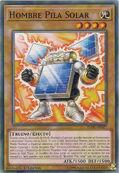 Hombre pila solar