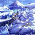 Foto lienzo meteorológico nevado