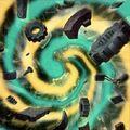 Foto fusión de mecanismo antiguo