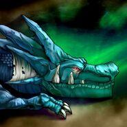 Foto el dragón que mora en la cueva
