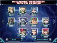 Reta a personajes del anime Duel Generation