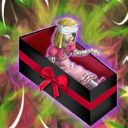 Foto marioneta trucada muñeca sombría (ilustración anime)