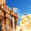 Foto destruyendo las ruinas