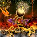 Foto florecimiento del fuego solitario