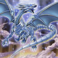 Foto dragón blanco de ojos azules mvpi