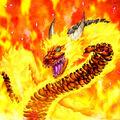 Foto dragón de la llamarada solar