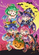 Chicas dimensionales Halloween