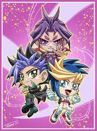 Yuto, Yugo y Yuri chibis