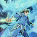 Foto ninja del dragón azul
