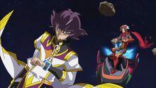 Rayo y Jin siendo perseguidos