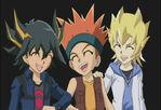 Yusei, Crow y Jack niños