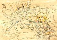 Yusei y Guerrero de Basura por Hiroki