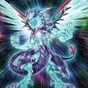 Foto dragón fotónico de ojos galácticos