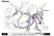 Dragón Xyz Rebelión Oscura concept art