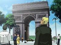 Rafael en el Arco del Triunfo