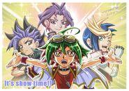 Yuya, Yuto, Yugo y Yuri Chibis 2