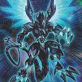 Foto dragón fotónico de armadura completa de ojos galácticos