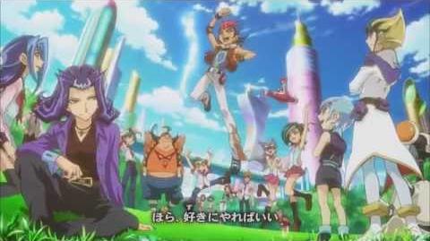 Yu-Gi-Oh! ZEXAL Japanese End Credits Season 2, Version 3 - Artist by vistlip