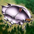 Foto insecto acorazado de metal