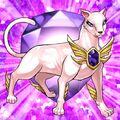Foto bestia de cristal gato amatista