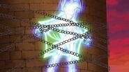 Astral atrapado por el emblema de Trey