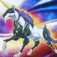 Foto bestia heráldica unicornio
