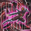 Foto ninja de la armadura llameante