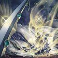 Foto fusión del esgrimista de la espada de la destrucción