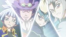 Sora, Yusho, Kite y Aster