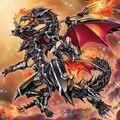 Foto dragón de metal replandeciente ojos rojos