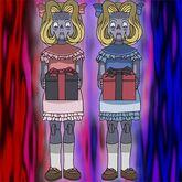 Foto muñecas gemelas malditas