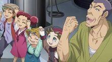 Chojiro y los niños