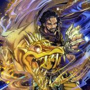 Foto ninja dragón amarillo
