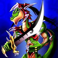 Foto aligátor de la espada