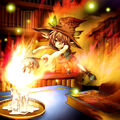 Foto duendecilla de la llama enfurecida