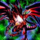 Foto dragón negro de ojos rojos pcj