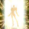 Foto cambio de héroe - rayo reflector