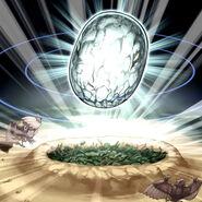 Foto huevo milagroso del jurásico
