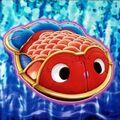 Foto pez dorado de hojalata