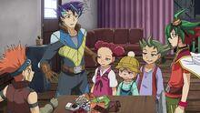 Shinji en la casa de Cuervo