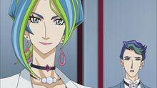 Reina y Akira observando la muerte de Tierra