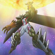 HÉROE Elemental Neos Magma (ilustración anime)