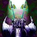 Foto espadas gemelas de luz cegadora - tryce