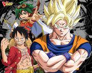 Yu-Gi-Oh Arc-V Dragon Ball Z One Piece