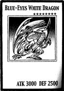 Dragón Blanco de Ojos Azules (Carta-Manga)