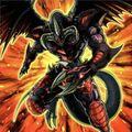 Foto ardiente dragón rojo archidemonio