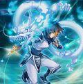 Foto ninja del dragón blanco